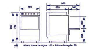 Lavavajillas industriales lc 1700 for Medidas de lavavajillas